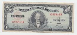 Cuba 1 Peso 1949 VF+ Crispy Banknote P 77a 77 A (No PayPal For This Item) - Cuba