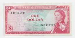 East Caribbean States 1 Dollar 1965 VF++ CRISP P 13d 13 D - Ostkaribik