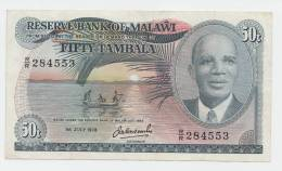 MALAWI 50 TAMBALA 1978  VF+ P 13b - Malawi