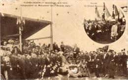 FLOING-SEDAN - Inauguration Du Monument Des Braves Gens - Arrivée Du Gal Bailloud   (55492) - Sedan