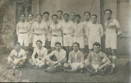 34Ch    42 Saint Etienne Carte Photo Equipe Football Olympique Club Forezien 2 Match Nul Contre FC Lyon 4/01/1925 - Saint Etienne
