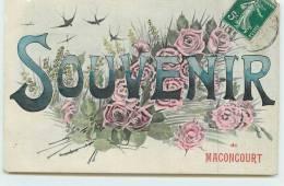 MACONCOURT  - Carte Souvenir De La Ville. - France