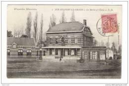 AISNE  /  PICARDIE  ILLUSTREE  /  SERAUCOURT-le-GRAND  /  LA  MAIRIE  ET  L´ ECOLE  /  Edit. P. DUPRE ( Cachet : ROUPY ) - Other Municipalities