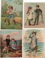 - Lot De 4 Grandes Images Anciennes - 751 - Oude Documenten