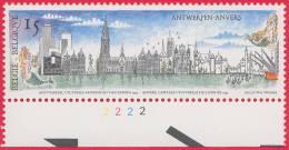 Timbre 1993 N° 2495 - Vue Panoramique D´Anvers - Planche 2 - 1991-2000