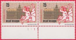 Timbre 1993 N° 2496 - Hôtel De Ville D'Anvers - Planche 1 - 1991-2000