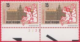 Timbre 1993 N° 2496 - Hôtel De Ville D´Anvers - Planche 2 - 1991-2000