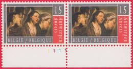 Timbre 1993 N° 2497 - Oeuvre De Jacob Jordaens - Planche 1 - 1991-2000