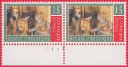 Timbre 1993 N° 2498 - Retable De Sint-Job - Planche 1 - 1991-2000