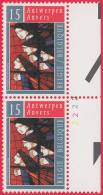 Timbre 1993 N° 2499 - Vitrail D´Eugeen Yoors - Planche 2 - 1991-2000