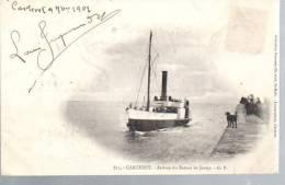N° 852a - Dpt 50 - Carteret - Arrivée Du Bateau De Jersey - Très Beau Cliché Précurseur - Carteret