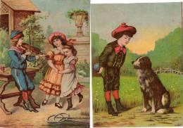 - Lot De 2 Grandes  Images Anciennes - 766 - Autres