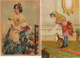 - Lot De 2 Grandes  Images Anciennes Dont 1 Pliée - 769 - Autres