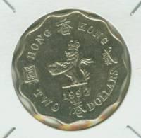 HONG KONG ---- 2 DOLLARS --- 1992 --- RARE - Hong Kong