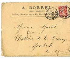 A . BORREL   FUMISTE -  SPECIALISTE à  TOULOUSE  1909 - Marcophilie (Lettres)