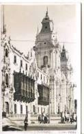 PERU - LIMA - PALACIO ARZOBISPAL Y CATEDRAL RP 1957 - Peru
