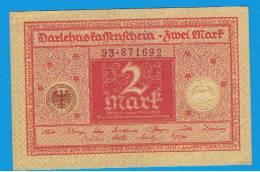 ALEMANIA - GERMANY -  2 Mark 1920 SC  P-59 - [ 3] 1918-1933 : República De Weimar