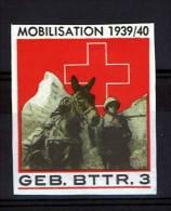 FP 437 - ARTILLERIE - GEB. BTTR. 3 Non-dentelé Militaire Avec Cheval - Vignettes