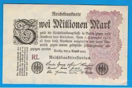 ALEMANIA - GERMANY -  2 Millones  Mark 1923 SC P-104 - [ 3] 1918-1933 : República De Weimar