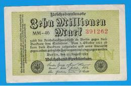 ALEMANIA - GERMANY -  10 Millones  Mark 1923 SC-   P-106  Serie MM - [ 3] 1918-1933 : República De Weimar
