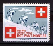FP 444 - INFANTERIE - RGT. FANT. MONT. 32 - Servizio Attivo - Militaires à Ski - Vignettes