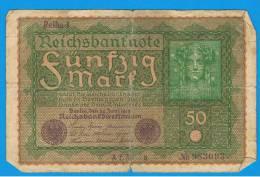 ALEMANIA - GERMANY - 50 Mark 1919   MBC-   P-66 - [ 3] 1918-1933 : República De Weimar