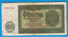 ALEMANIA - GERMANY - 50 Deutschemark 1948 MBC  P-14a - [ 6] 1949-1990 : GDR - German Dem. Rep.