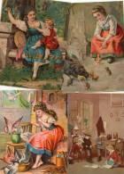 Lot De 4 Grandes Images Anciennes Abimées- 776 - Autres