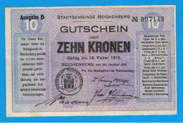 ALEMANIA - GERMANY -  REIDENBERG 10 Kronen 1919 MBC+ - [ 9] Ocupaciones Alemanas