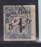 COTE D´IVOIRE COLIS POSTAL N° 7 1FR S 5C BLEU OBL - Costa D'Avorio (1892-1944)