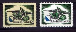 FP 462 - INFANTERIE - Füs. Bat. 104 Stabs-Kp - Papier Blanc Et Papier Crême - Labels
