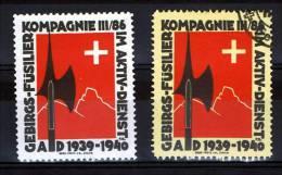 FP 475 - INFANTERIE - GEBIRGS-FÜSILIER KOMPAGNIE III/86 Papier Blanc Et Papier Crême - Poste Militaire