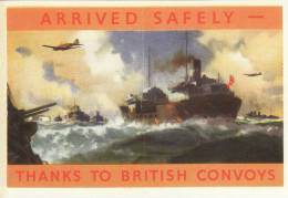 Merchant Navy Arrived Safely Thanks To British Convoys Replica - Old Paper