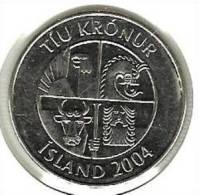 ICELAND 10 KRONUR 2004 PICK 29.1a UNC - Islandia