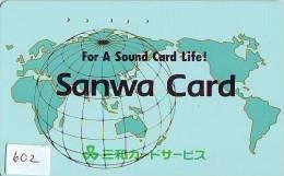 Télécarte Japon MAP * Carte Du Monde * GLOBE (602) Géographie * Mappemonde * Japan Phonecard * Telefonkarte * AARDBOL - Espace