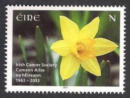 IRELAND EIRE 2013 Irish Cancer Society, Health Disease, Flowers, 1v MNH - Disease