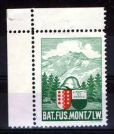 FP 487 - INFANTERIE - BAT. FUS. MONT. 7 LW. Neuf Bord De Feuille - Vignettes