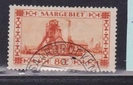SARRE N° 115 80C ORANGE PUITS DE MINE OBL - Zona Francese