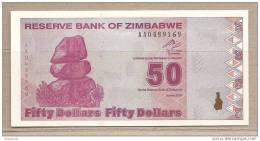 Zimbabwe - Banconota Non Circolata Da 50 Dollari - 2009 - Zimbabwe