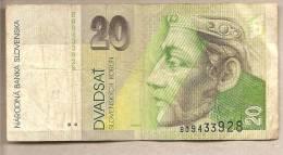 Slovacchia - Banconota Circolata Da 20 Corone - 1993 - Slovacchia