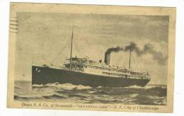 Ocean S.S. Co. Of Savannah, S.S. City Of Chattanooga, PU-1945 - Steamers