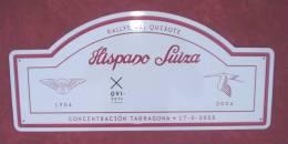 "Plaque De Concentration ""HISPANO SUIZA"" 2005. - Plaques De Rallye"