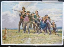 LITHO Allemande 12X17 Illustrateur PAUL HEY Deutsche Marchen 4 N° 64 Die Sieben Schwaben GRIMM - Sammlungen