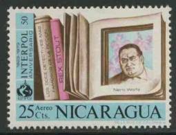 """Nicaragua 1972 Mi 1689 ** """"Nero Wolfe"""" By Rex Stout (1886-1975) American Detective Fiction Writer - Schrijvers"""