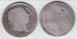 ****  GREAT BRITAIN - GRANDE-BRETAGNE - 1 SHILLING 1820 GEORGE III - ARGENT **** EN ACHAT IMMEDIAT !!! - 1816-1901 : Frappes XIX° S.
