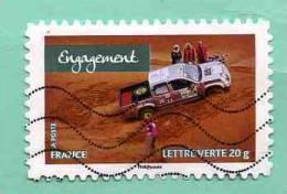 FRANCE 2013 - Y&T N° A 7.. : FEMMES DE VALEURS +++ ENGAGEMENT + AUTO DESERT DUNE SABLE - Used Stamps