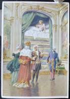 Rare LITHO Allemande 12X17 Illustrateur PAUL HEY Deutsche Marchen 4 N° 60 Die Prinzessin Aus Der Erbse ANDERSEN - Sammlungen