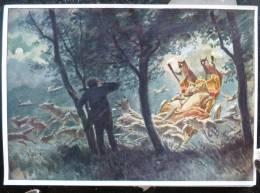 LITHO IMAGE Allemande 12X17 Illustrateur PAUL HEY Deutsche Marchen 4 N° 100 Rattenkonig Birlibi E.M. ARNDT Rat Chat - Collections