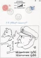 Jean Baptiste Charcot 50 Ans De Sa Disparition  Du Pourquoi Pas. Document Signe De Sa Fille - Polar Philately