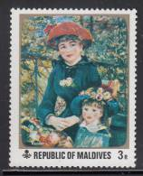 Maldives MNH Scott #366 3r Mother And Child Painting By Renoir - Maldives (1965-...)